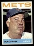 1964 Topps #155   Duke Snider Front Thumbnail