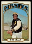 1972 Topps #729  Bob Veale  Front Thumbnail