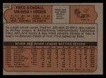 1972 Topps #532   Fred Kendall Back Thumbnail