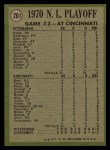 1971 Topps #201  1970 NL Playoffs - Game 3 - Cline Scores Winning Run  -  Ty Cline / Manny Sanguillen Back Thumbnail