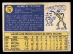 1970 Topps #235   Mike Epstein Back Thumbnail