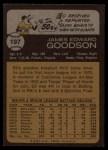 1973 Topps #197  Ed Goodson  Back Thumbnail