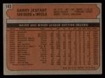 1972 Topps #143  Garry Jestadt  Back Thumbnail