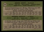 1971 Topps #204  Brewers Rookies  -  George Kopacz / Bernie Smith Back Thumbnail