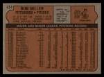 1972 Topps #414  Bob Miller  Back Thumbnail