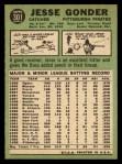 1967 Topps #301   Jesse Gonder Back Thumbnail