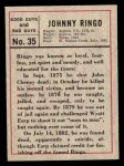 1966 Leaf Good Guys Bad Guys #35   Johnny Ringo Back Thumbnail