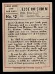 1966 Leaf Good Guys Bad Guys #42   Jess Chisholm Back Thumbnail