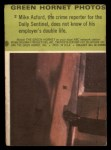 1966 Donruss Green Hornet #2  Mike Axford  Back Thumbnail