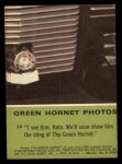 1966 Donruss Green Hornet #14   I see him Kato Back Thumbnail