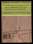 1966 Donruss Green Hornet #8  Green Hornet apprehending thief  Back Thumbnail