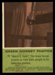 1966 Donruss Green Hornet #32  Watch it Kato  Back Thumbnail
