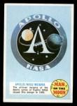 1970 Topps Man on the Moon #2 A Apollo / NASA Insignia  Front Thumbnail