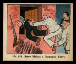 1931 Johnson Candy Dick Tracy #138  Steve Makes Desperate Move  Front Thumbnail