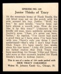 1931 Johnson Candy Dick Tracy #129   Junior Thinks of Tracy Back Thumbnail