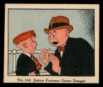 1931 Johnson Candy Dick Tracy #144   Junior Foresees Grave Danger Front Thumbnail