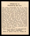 1931 Johnson Candy Dick Tracy #121   Hunted by the Law Back Thumbnail