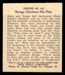 1931 Johnson Candy Dick Tracy #140   Stooge Discloses His Plan Back Thumbnail