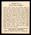 1931 Johnson Candy Dick Tracy #142  Steve Gets Ladylike  Back Thumbnail