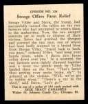 1931 Johnson Candy Dick Tracy #126   Stooge Offers Farm Relief Back Thumbnail