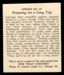 1931 Johnson Candy Dick Tracy #127  Preparing for Long Trip  Back Thumbnail