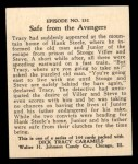 1931 Johnson Candy Dick Tracy #131  Safe From the Avengers  Back Thumbnail