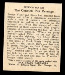 1931 Johnson Candy Dick Tracy #128   The Convicts Plot Revenge Back Thumbnail
