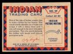1959 Fleer Indian #29  Woman preparing deerskin  Back Thumbnail