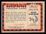 1959 Fleer Indian #16   Hunting Buffalo Back Thumbnail