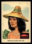 1959 Fleer Indian #44  Northwest Indian Rain Cap  Front Thumbnail