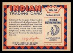 1959 Fleer Indian #30  Indian longhouse  -  Indian longhouse  Indian Back Thumbnail