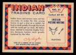 1959 Fleer Indian #31  Young brave hunting  Back Thumbnail