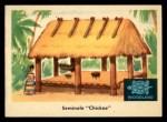 1959 Fleer Indian #21  Seminole Chickee  Front Thumbnail