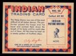 1959 Fleer Indian #58  Hoop Dancer  Back Thumbnail