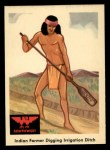 1959 Fleer Indian #60  Indian Farmer Digging Ditch  Front Thumbnail