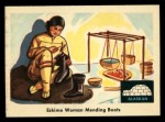 1959 Fleer Indian #74  Eskimo woman mending boots  Front Thumbnail