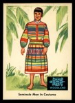 1959 Fleer Indian #37  Seminole man in costume  Front Thumbnail