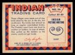 1959 Fleer Indian #56   Pueblo Village Back Thumbnail