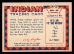 1959 Fleer Indian #69   Indian woman gathering berries Back Thumbnail