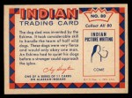 1959 Fleer Indian #80  Eskimo dog sled  Back Thumbnail