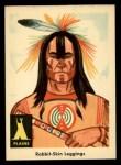 1959 Fleer Indian #10  Rabbit skin leggings  Front Thumbnail
