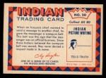 1959 Fleer Indian #20  Wampum Belt  Back Thumbnail