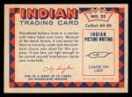 1959 Fleer Indian #25   Indian Making Birchbark Canoe Back Thumbnail