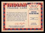 1959 Fleer Indian #33  Seminole Dugout Canoe  Back Thumbnail