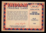 1959 Fleer Indian #38  Making Dugout Canoe  Back Thumbnail