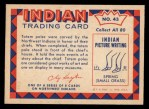 1959 Fleer Indian #43   Carving totem pole Back Thumbnail