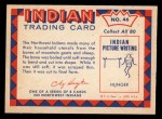 1959 Fleer Indian #46  Girl with Raven head spoon  Back Thumbnail