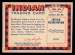 1959 Fleer Indian #60  Indian Farmer Digging Ditch  Back Thumbnail