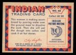1959 Fleer Indian #68  Making acorn bread  Back Thumbnail