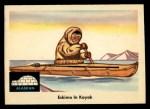 1959 Fleer Indian #72  Eskimo in kayak  Front Thumbnail
